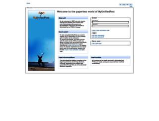 my.unifiedpost.com screenshot