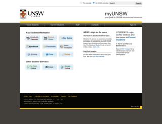 my.unsw.edu.au screenshot