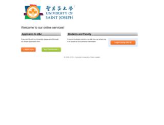 my.usj.edu.mo screenshot