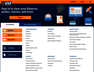 my.utep.edu screenshot