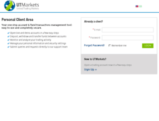 my.utmarkets.com screenshot