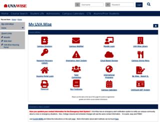 my.uvawise.edu screenshot