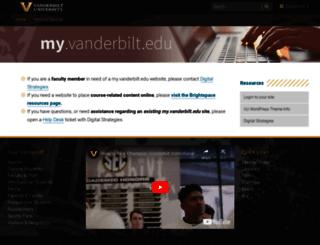 my.vanderbilt.edu screenshot