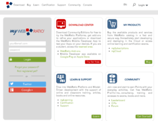my.webratio.com screenshot