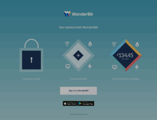 my.wonderbill.com screenshot