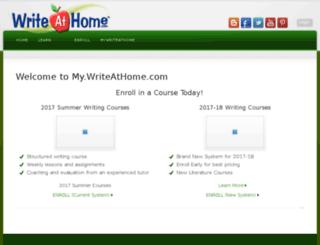my.writeathome.com screenshot