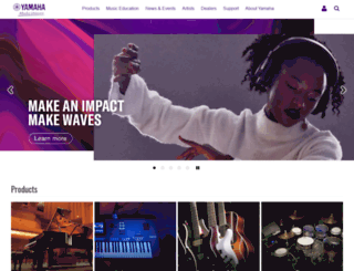 my.yamaha.com screenshot