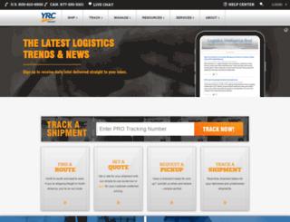 my.yrc.com screenshot