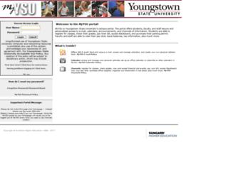 my.ysu.edu screenshot