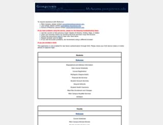 myaccess.georgetown.edu screenshot