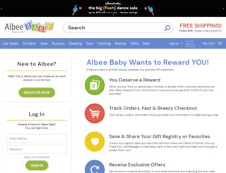 myaccount.albeebaby.com screenshot