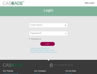 myaccount.cascadecard.com screenshot