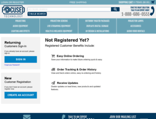 myaccount.focusedtechnology.com screenshot
