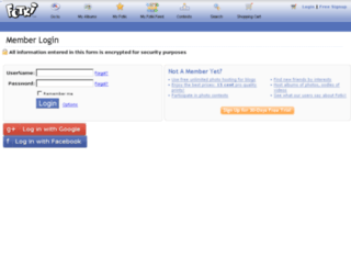 myaccount.fotki.com screenshot