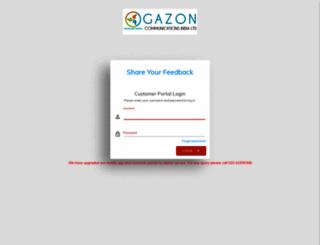 myaccount.gazonindia.com screenshot