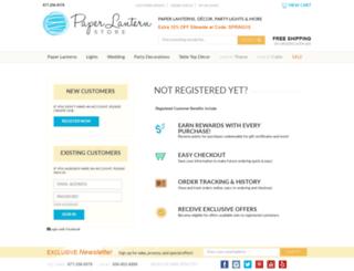 myaccount.paperlanternstore.com screenshot