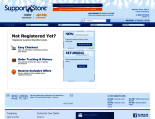 myaccount.supportstore.com screenshot