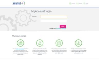 myaccount2.westnet.com.au screenshot