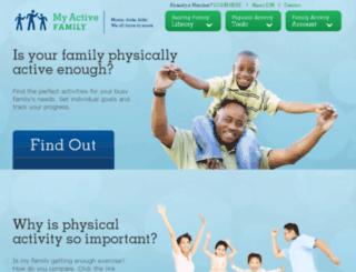 myactivefamily.org screenshot
