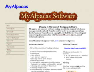 myalpacas.ca screenshot