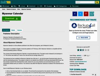 myanmar-calendar.soft112.com screenshot