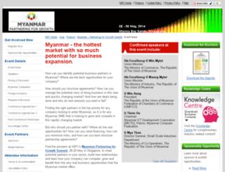 myanmarpartneringsummit.com screenshot