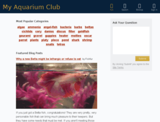 myaquariumclub.com screenshot