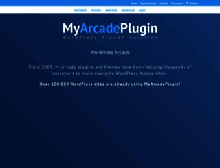 myarcadeplugin.com screenshot