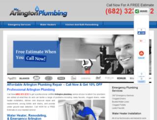 myarlingtonplumbing.com screenshot