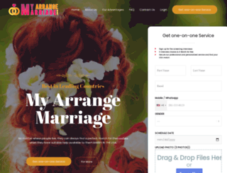 myarrangemarriage.com screenshot