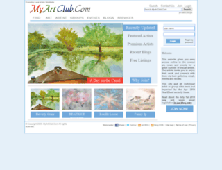 myartclub.com screenshot