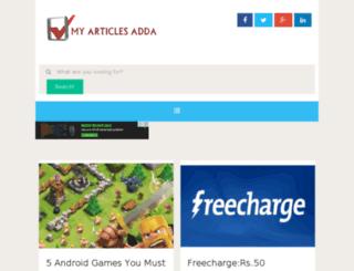 myarticlesadda.com screenshot