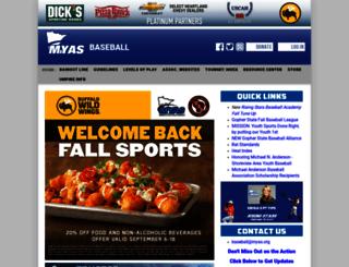 myasbaseball.org screenshot