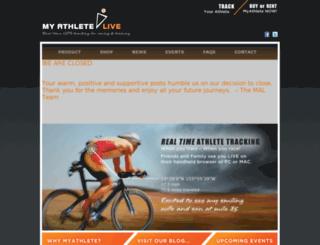 myathletelive.com screenshot