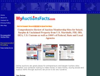 myauctionfacts.com screenshot