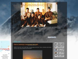 mybabah.blogspot.com screenshot
