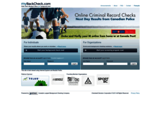 mybackcheck.com screenshot