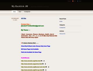 mybacklinkjm.wordpress.com screenshot