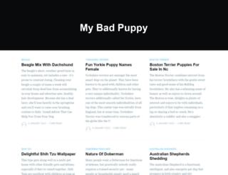 mybadpuppy.com screenshot