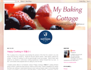 mybakingcottage.blogspot.com screenshot