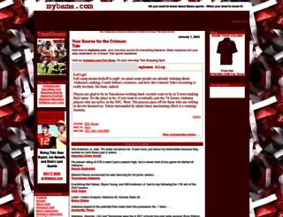mybama.com screenshot