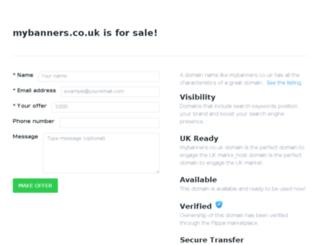 mybanners.co.uk screenshot
