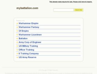 mybattalion.com screenshot