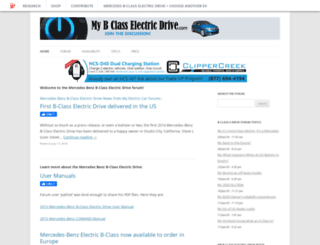 mybclasselectricdrive.com screenshot