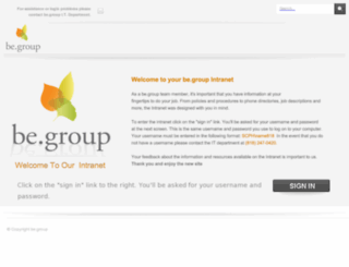 mybegroup.org screenshot