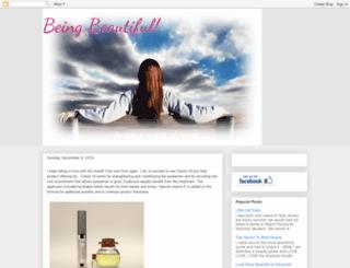 mybeingbeautiful.blogspot.com screenshot