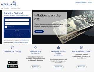 mybenefits.ml.com screenshot