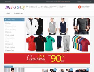 mybigshop.net screenshot