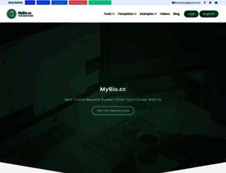 mybio.cc screenshot