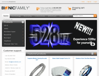 mybionicfamily.com screenshot